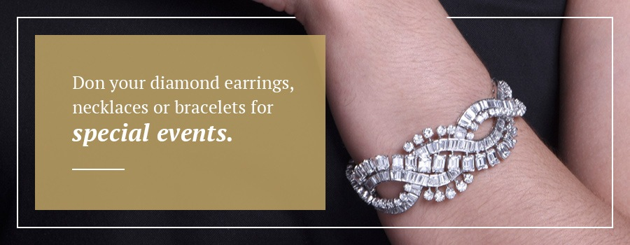 How Best to Wear Diamond Jewelry