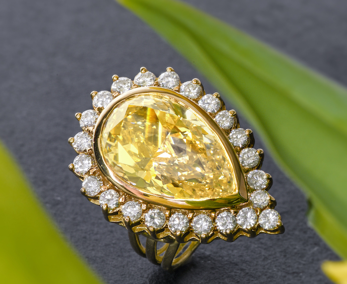 Celebrity Pear Shaped Yellow Diamond
