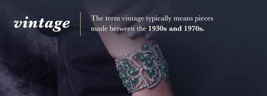 vintage jewelry 1930 - 1970