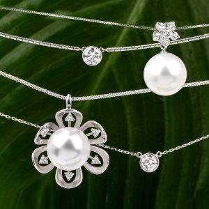 combine pearls and diamonds