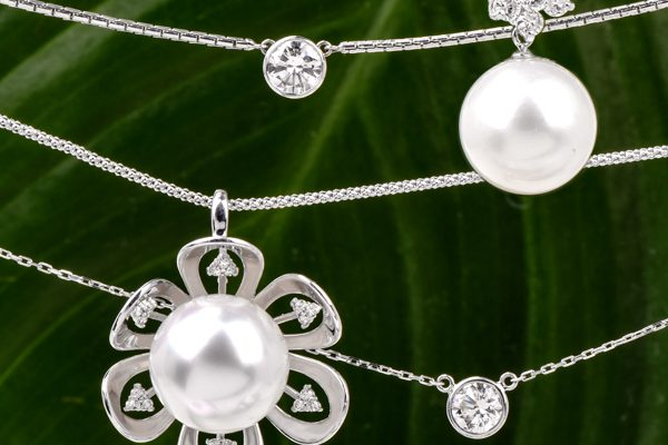 combine pearls and diamonds