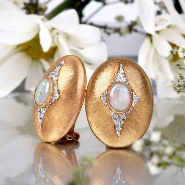 Buccellati Opal Earrings