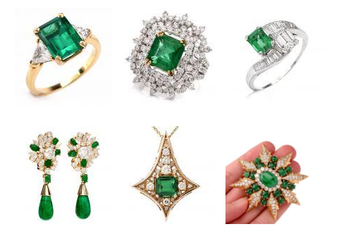 emerald may pieces