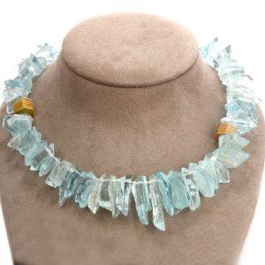 CHRISTOPHER WALLING Natural Aquamarine 18k Necklace