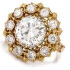 Vintage Buccellati Diamond 18K Cocktail Engagement Ring