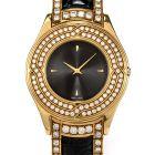 Mauboussin Diamond 18K Gold Black Leather Men Watch R62683