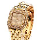 Cartier Panther Diamond Face 18K Gold Ladies Watch
