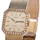 Rolex Vintage Diamond Cellini Mechanical 18K Yellow Gold Ladies Watch