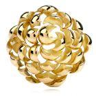Tiffany & Co. Vintage Italian 18K Gold Large Flower Brooch Pin