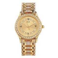 Piaget Polo 23005 M 503 D Diamond 18K Yellow Gold Watch