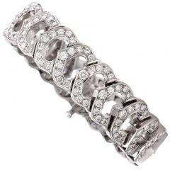 Cartier C de Cartier Diamond Gold Bracelet Ref. #783582