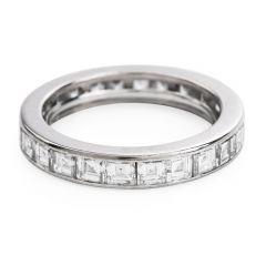 GubelinVinatge  Asscher Diamond 18k White Gold Eternity Band Ring