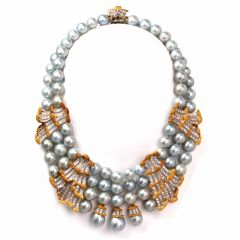 Buccellati Diamond Pearl 18K Gold Necklace