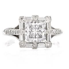 Tacori Diamond Platinum Engagement Semi-mount Ring
