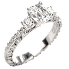 Tacori GIA Diamond Eternity Band Platinum Engagement Ring