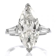 5.94 ct Marquise Diamond Platinum Vast Engagement Ring