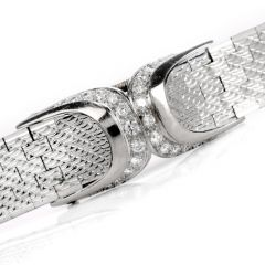Vintage 1940's Retro GUBELIN Coverd Diamond Bracelet 18k Gold Watch