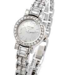Cartier Vintage Diamond Platinum Swiss Collectible Ladies Watch