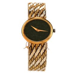 Vintage Piaget 18K Gold Ref 9802 Two Tone Woven Watch