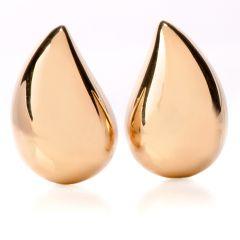 Vhernier 18K Gold Tear Drop Clip On Earrings