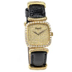 PIAGET Vintage Ladies Diamond Dial Bezel & Strap Watch