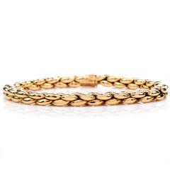 Cartier Vintage 18K Gold Link Bead Oval Bracelet