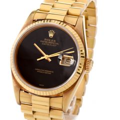Rolex Vinatge Collectable  Gents 18K Datejust Watch  Ref 16018