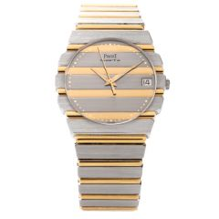 Preowned 32mm Piaget Polo Ref 7761 C 701 Unisex Watch 18K Gold