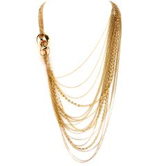 Gucci Vintage Multi Strand 18 Karat Yellow Gold Long Lariat Necklace