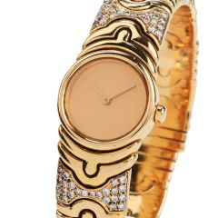 Bvlgari Parentesi  Diamond 18K Gold Cuff Bangle Ladies Watch
