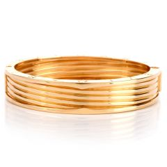 BVLGARI B.zero1 Large 4 Band Wide 18k Yellow Gold Bulgari B zero 1Bangle Bracelet