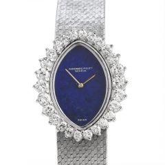 Audemars Piguet Vintage Diamond LAPIS Mechanical 18K White Gold Ladies Watch
