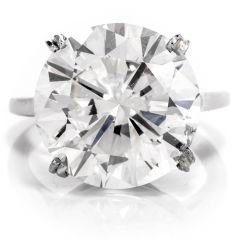 10.02 Carat Round Diamond Platinum Solitaire Engagement Platinum Ring