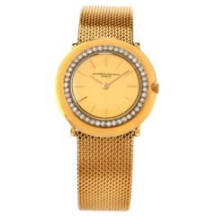Vintage Vacheron & Constantin Diamond 18K Gold Textured Watch