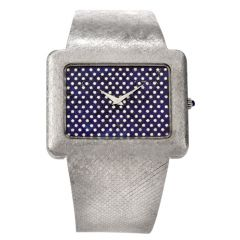 Vintage Corum Diamond Lapis Chrome Watch