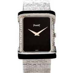 Piaget Diamond Onyx 18K White Gold Women's Watch