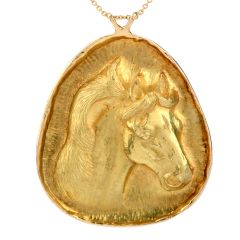 P.L. Bryant 18K Yellow Gold Large Horse Pendant