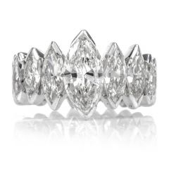 8.72ct Diamond Platinum Marquis Shaped Eternity Band