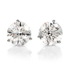 Classic 6.13 Carat Diamond Studs gold Earrings