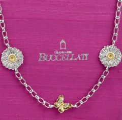 Buccellati Sterling Silver Daisy and Butterfly Long Chain