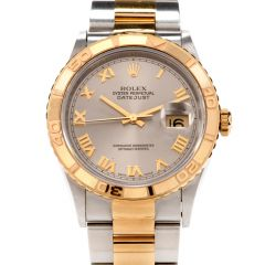 Preowned 6mm Rolex Datejust Turn-O-Graph Ref. 16263 Steel and Gold Watch
