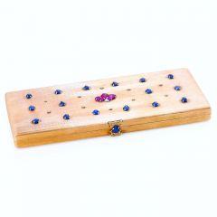 M. Buccellati Vintage Diamond Ruby Sapphire 18K Gold Compact Box