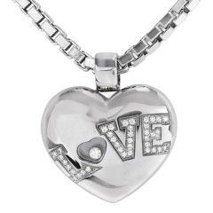 Chopard Happy Diamond Puff Heart 18k Gold Necklace