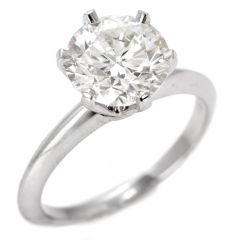Tiffany & Co. 2.53ct Diamond Platinum Designer Solitaire Engagement Ring