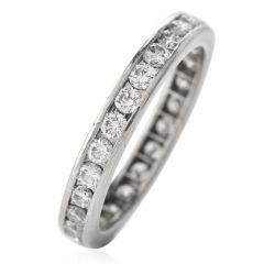 Tiffany & Co Diamond Platinum Designer Eternity Band Ring