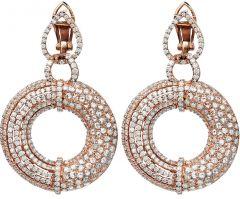 5.50ct Diamond 18K Pink Gold Elegant Dangle Drop Earrings