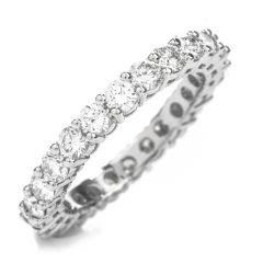 Estate  Natural Diamond Platinum Eternity Band RIng