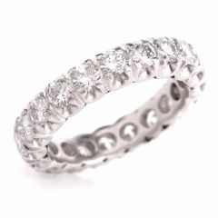 Classic Vintage  Round  Diamond Eternity Band Ring