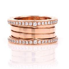 Bvlgari B.zero1 Bulgari ring in 18 kt rose set with pavé diamonds