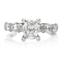 Tacori High Set GIA Diamond Platinum Engagement Ring